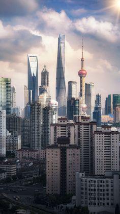 Travel Sights, Places To Travel, Places To Visit, Travel Destinations, Shanghai Skyline, Shanghai City, Seoul Korea Travel, City Wallpaper, City Aesthetic