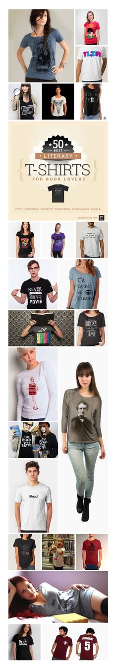 Which of these literary t-shirts do you like most? #infographic