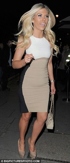 Frankie Essex looking amazing in a Stella inspired Optical Illusion dress