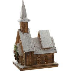 """Heaven Sends"" Wooden House Light Up Ornament - TK Maxx"