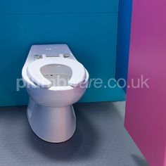 Infant Open-Ring Toilet Seat. Heavy duty open front school seat for use with Infant Low Level or Infant Back to Wall toilet pans.