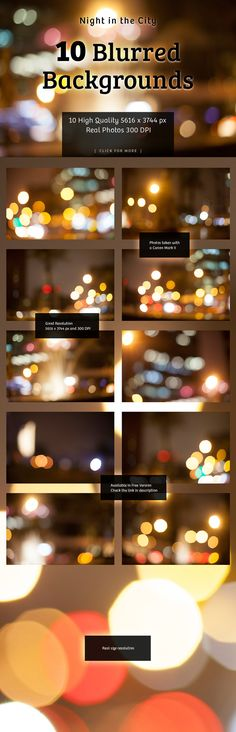 Blurred Background Night in the City @creativework247