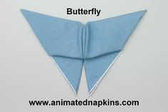 Folding the Butterfly Animation (half) Napkin Folding, Soft Fabrics, Tablescapes, Napkins, Wings, Surface, Butterfly, Notes, Animation