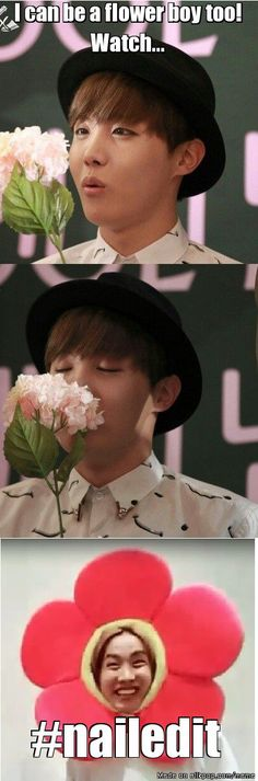 J-Flower Boy XD <3 <3 <3 BTS