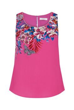 Oasis, TROPICAL PLACEMENT VEST Multi Pink 0