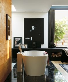 Bathroom Bliss. Home of Mike Meiré and Michelle Elie by Jason Schmidt.