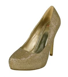 aaef80db88 By Delicious Hidden Platform High Heel Pump, gold shimmer, M. Heel Height  is. Shoe Talk