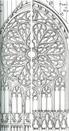 frieze tile: Rose Window drawings
