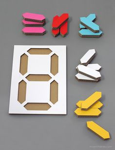 art displays - Digital Number Puzzle Templates free printable patterns for number activities and kids wall art display recycle cardboard boxes or use cardboard sh Recycle Cardboard Box, Cardboard Boxes, Diy For Kids, Crafts For Kids, Wooden Playset, Number Puzzles, Montessori Toys, Kids Wood, 3d Prints