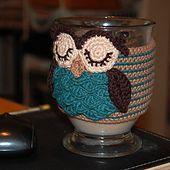 Owl Coffee Mug Crochet Cozy Pattern