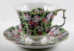 Royal-Albert-Tea-Cup-and-Saucer-Garden-Party-Series-Spring-Song-Gold-Trim