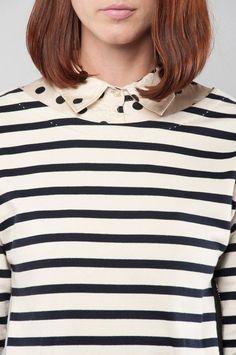 stripe & polka dot detail / stripes bandes strisce raidat