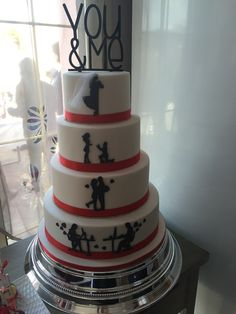 Wedding Cake Blanc et Rouge | L'Atelier Des Sucreries
