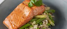Asian Baked Salmon with SteamFresh Veges recipe from Food in a Minute
