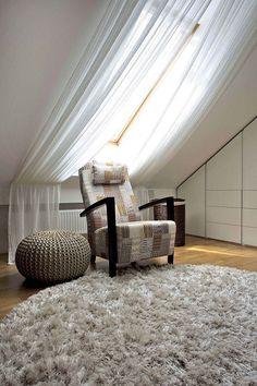 m mansarda, iš kurios matyti Gedimino pilis – Loft İdeas 2020 Attic Master Bedroom, Attic Bedrooms, Room Ideas Bedroom, Bedroom Loft, Bedroom Decor, Diy Skylight, Skylight Blinds, Cool Curtains, Curtains With Blinds