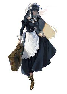 """黒田ヱリ on Twitter: """"命を救ってもらったという理由で無理やり従事させられるが今の仕事は割と嫌いではないメイドの絵… """" Fantasy Character Design, Character Design Inspiration, Character Concept, Character Art, Fantasy Characters, Female Characters, Anime Maid, Maid Outfit, Character Design References"""