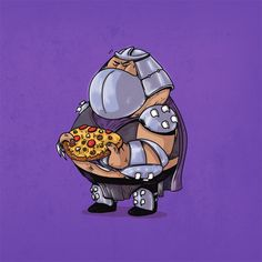 BROTHERTEDD.COM - xombiedirge: Famous Chunkies: TMNT Series by... Fat Cartoon Characters, Cartoon Art, Cultura Pop, Alex Solis, Shredder Tmnt, Fat Character, Art Series, Teenage Mutant Ninja Turtles, Alternative Movie Posters