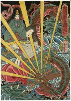 Nii no ama, from the series Mirror of Warriors of Our Country (Honchô musha kagami) / Yoshitsuya