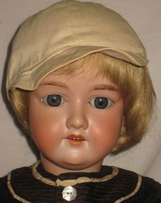 "ANTIQUE 28"" ARMAND MARSEILLE BISQUE SOCKET HEAD DOLL #390"