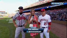 Erin Andrews makes her debut for Fox Sports at MLB All-Star game