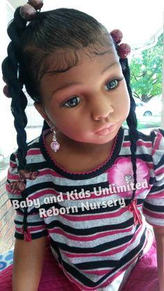 AA reborn toddler girl Ethnic child reborn baby African