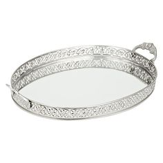 Metal Oval Tray, Dia.32.5cm - John Lewis *Perfect for candles & perfumes
