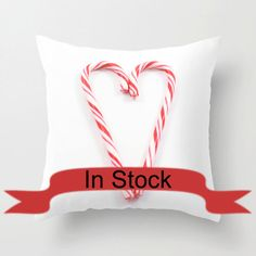 Red Christmas Pillows Candy Cane Holiday Pillow Cover Festive Home Decor Modern Home Design White Pillow Covers Handmade in Canada In Stock by CrystalGaylePhoto on Etsy https://www.etsy.com/listing/197303376/red-christmas-pillows-candy-cane-holiday