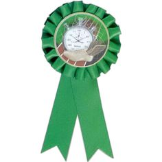 """Recognize hard work and motivation with our 2 streamer stock rosette ribbons! Measuring 3"""" x 6 1/2"""", they are available in six colors with a convenient pin back for placement."""
