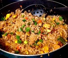Arroz frito cubano Best Rice Recipe, Easy Rice Recipes, Lunch Recipes, Mexican Food Recipes, Cooking Recipes, Spanish Recipes, Arroz Cubano, Rice Dishes, Food Dishes