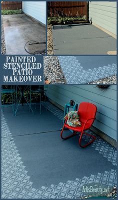 ART IS BEAUTY: Fun and Fresh Painted Patio Makeover
