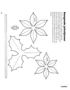 Poinsettia and holly pattern!template for poinsettia flower We are a single unit. We'll get through this, bsby!All leaves template! Christmas Projects, Felt Crafts, Holiday Crafts, Christmas Crafts, Paper Crafts, Christmas Ornaments, Felt Flowers, Fabric Flowers, Paper Flowers