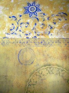 Stenciling with Doilies: Collage Wall