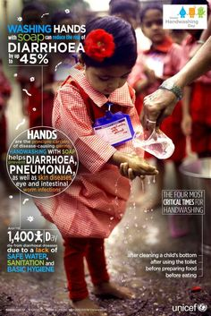 fundraising infographic : Today is Global Handwashing Day! Global Handwashing Day, Charity Poster, World Data, Sepsis, Hand Hygiene, Soap Making Supplies, E 10, Home Made Soap, Hand Washing