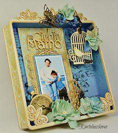 FILIGRANKI: RAMKA NA DZIEŃ MATKI / Frame for Mother's Day Shadow Box, Frame, Vintage, Decor, Decorating, Vintage Comics, Inredning, Frames, Interior Decorating