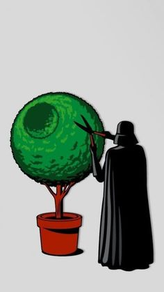 free Star Wars Darth Vader iPhone wallpaper. Hilarious. (What? He likes gardening.)