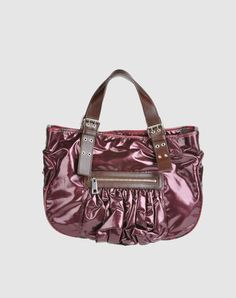 small tote with contrast sleeves, piping side gussets, front shirred zip pocket