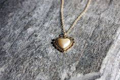Sweet Heart Necklace by JacquesElixar on Etsy, $34.00    Simple and Sweet. <3