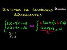 Sistemas de ecuaciones equivalentes 2 - Álgebra -