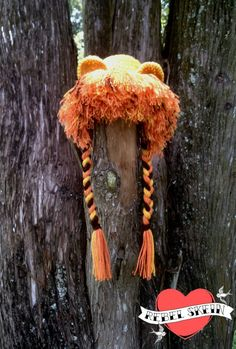 Infant Lion Hat Lion Photo Prop Lion Beanie by RebelSkein on Etsy, $25.00