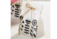 Paper and Twine Gift Bags featuring Handmade Charlotte Stencils