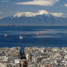Mount Olympus From Thessaloniki Mount Olympus Greece, Macedonia Greece, Greek Beauty, Greek History, Parthenon, Thessaloniki, Mykonos, Travel Around, Athens