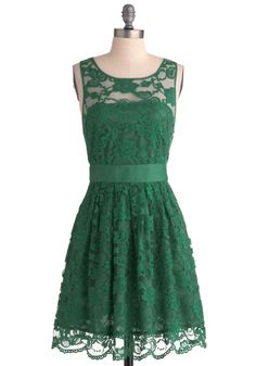 Shower/Rehearsal/Engagement shoot dress idea - When the Night Comes Dress in Emerald, #ModCloth