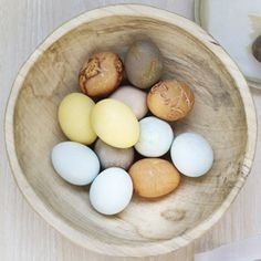 Very interesting - and natural dyes are so much better for the environment! - How to Dye Eggs with Natural Dyes