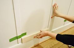 this is a great board and batten tutorial, but even more importantly, the baseboards! These are the exact baseboards I want for our house.