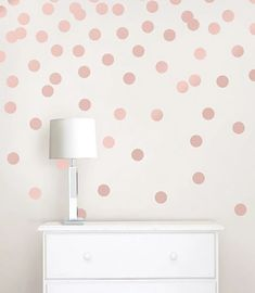 These shimmering decals come with 64 dots to arrange however you would like on your wall. #windowfilmworld #windowfilm #walldecor #stickwallpaper #homedecor #homedesign