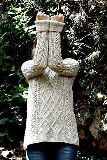 Journey Sweater. The cables are so nicely paired for a classic look. I'm so tempted by this sweater but know my time constraints won't let me finish it. Doesn't mean I won't cast it on though - ya know...just in case I find more than 24 hours in a day!