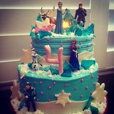 Disney's Frozen theme Happy Birthday Cake
