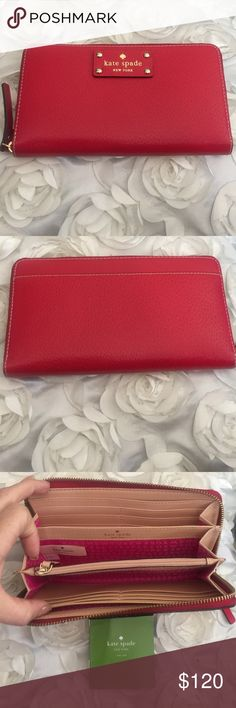 Kate spade Kate spade red beautiful wallet kate spade Bags Wallets