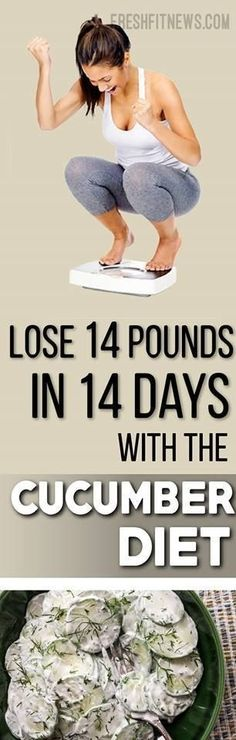 Lose 14 Pounds In 14 Days With The Cucumber Diet | Fitness, health, Makeup and Beauty
