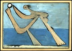 Pablo Picasso - Baigneuse à Dinard - 1928.